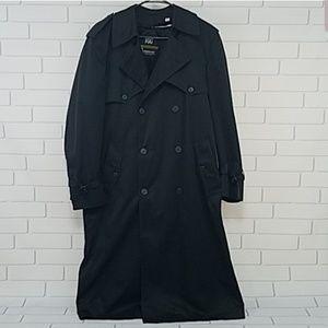 London Fog Black Trenchcoat 38 Regular Raincoat